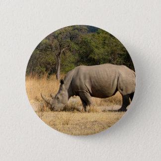 Rhinoceros Family Round Button