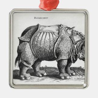 Rhinoceros, from 'Historia Animalium' Christmas Ornament