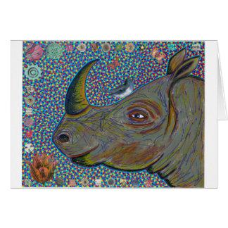 Rhinoceros Greeting Card