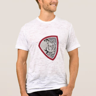 Rhinoceros Head Side Shield T-Shirt