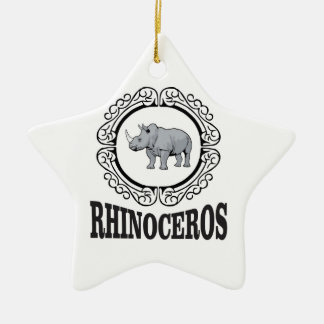 Rhinoceros in the mug christmas ornament
