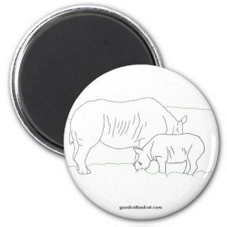 Rhinoceros Line Magnet