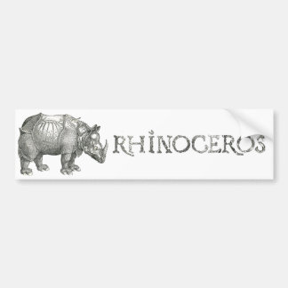 Rhinoceros Party Bumper Sticker