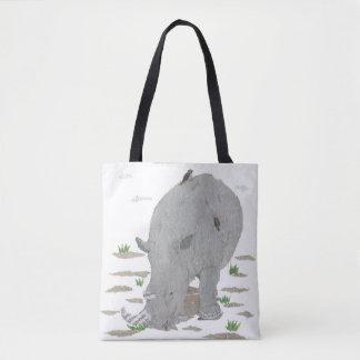 Rhinoceros, Rhino, African Animal, Wild Life Tote Bag