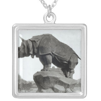 Rhinoceros Silver Plated Necklace