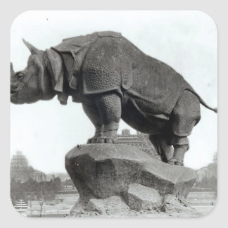 Rhinoceros Square Sticker