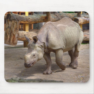 Rhinoceros unicornis mouse mat
