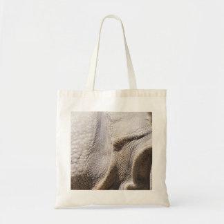 Rhinocerose skin budget tote bag
