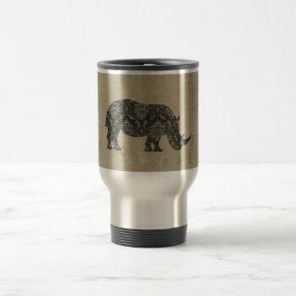 Rhinoceroses Silhouette Travel Mug