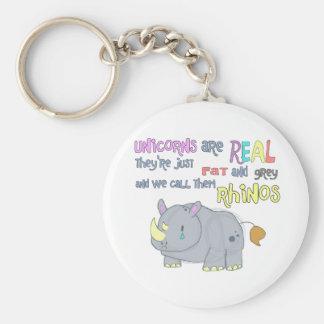 rhinos are just ugly unicorns keychain