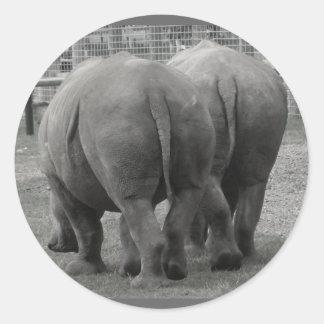 Rhinos Classic Round Sticker
