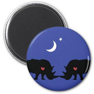 Rhinos in love magnet
