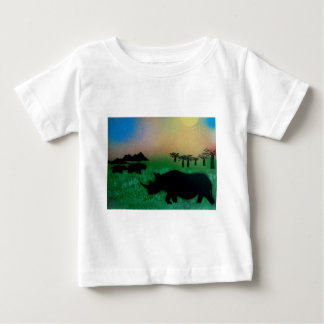 Rhinos in the sunset baby T-Shirt