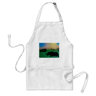 Rhinos in the sunset standard apron