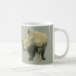 Rhinos on Gray Coffee Mug
