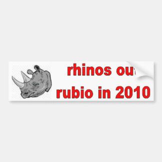 Rhinos Out Rubio In 2010 Bumper Sticker