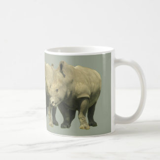 Rhinos Overlap on Gray Coffee Mug