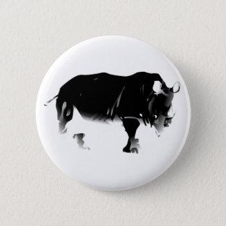 Rhinos Rock 6 Cm Round Badge
