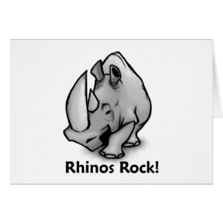 Rhinos Rock! Card