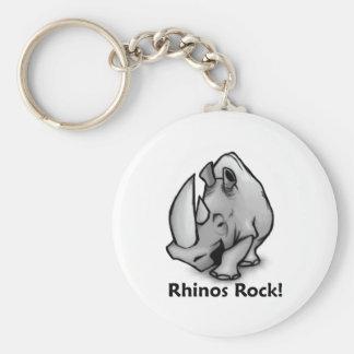 Rhinos Rock! Key Ring
