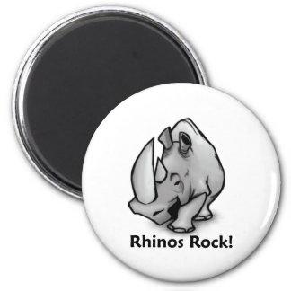Rhinos Rock! Magnet