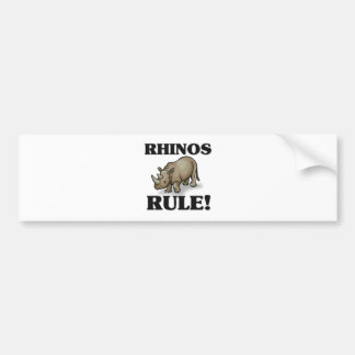 RHINOS Rule Bumper Sticker