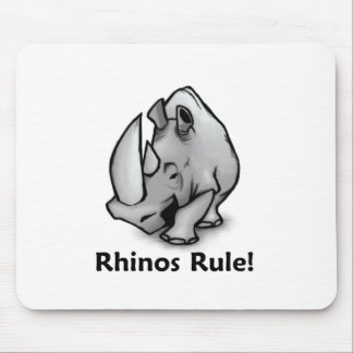 Rhinos Rule! Mouse Mat