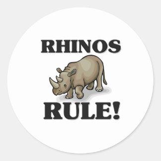 RHINOS Rule! Round Sticker