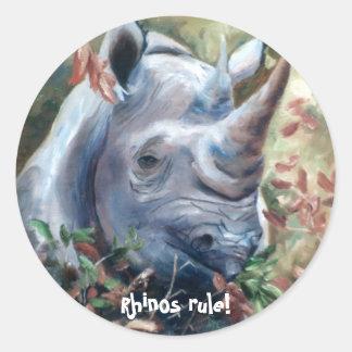 Rhinos rule Sticker