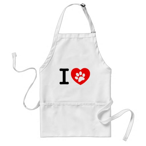 RHLAC  RED HEART LOVE ANIMALS CAUSES MOTIVATIONAL APRON