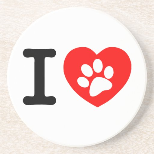 RHLAC  RED HEART LOVE ANIMALS CAUSES MOTIVATIONAL BEVERAGE COASTERS