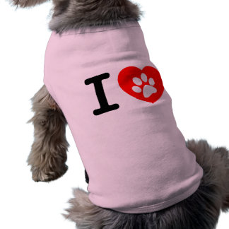 RHLAC RED HEART LOVE ANIMALS CAUSES MOTIVATIONAL PET TSHIRT