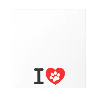 RHLAC RED HEART LOVE ANIMALS CAUSES MOTIVATIONAL MEMO NOTEPADS