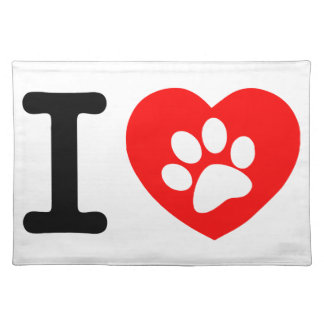 RHLAC  RED HEART LOVE ANIMALS CAUSES MOTIVATIONAL PLACEMAT