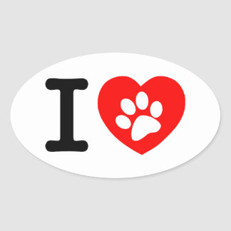 RHLAC  RED HEART LOVE ANIMALS CAUSES MOTIVATIONAL OVAL STICKERS