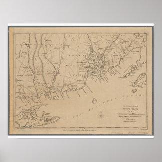 Rhode Island 1780 Historic Map Poster