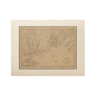 Rhode Island 1780 Historic Map Wood Poster
