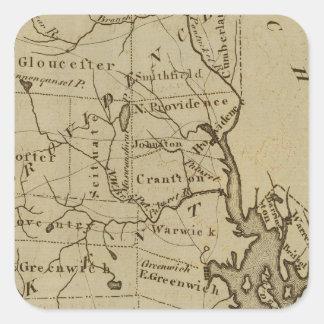 Rhode Island 4 Square Sticker