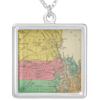 Rhode Island 5 Silver Plated Necklace