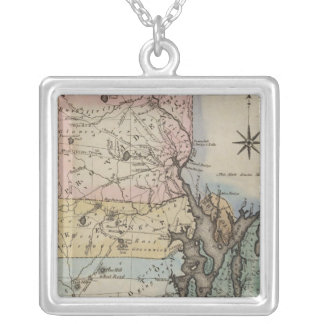 Rhode Island 9 Silver Plated Necklace
