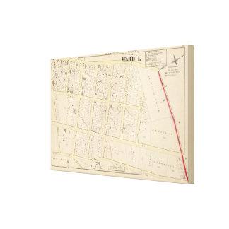 Rhode Island Atlas Map Canvas Print