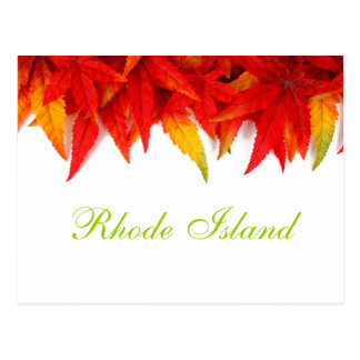 Rhode Island Autumn Leaves Postcard