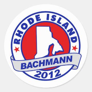 Rhode Island Bachmann Round Stickers