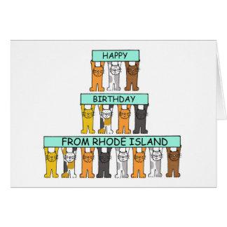 Rhode Island Birthday Card