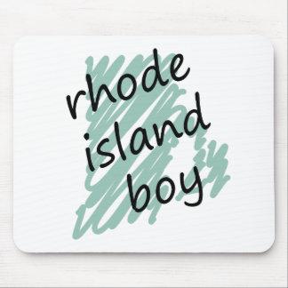 Rhode Island Boy on Child's Rhode Island Map Mouse Mat