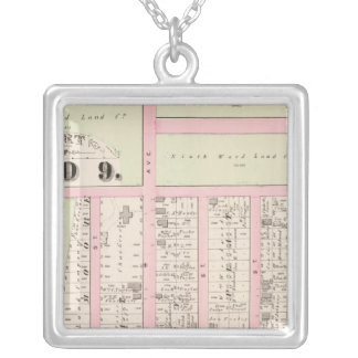 Rhode Island Catholic Orphan Asylum Atlas Map Silver Plated Necklace