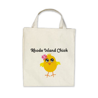 Rhode Island Chick Tote Bags