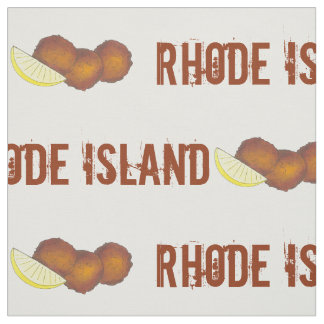 Rhode Island Clam Cakes Fried Clamcakes Seafood RI Fabric