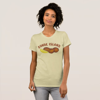 Rhode Island Clam Cakes Fried Clamcakes Seafood RI T-Shirt