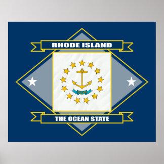 Rhode Island Diamond Poster